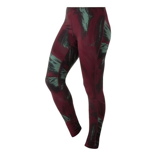 Womens ASICS Graphic Full Length Tights - Aurora Print S