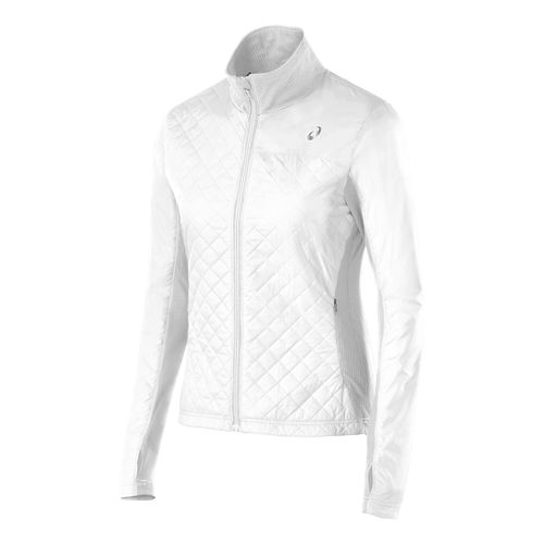 Womens ASICS Thermo Windblocker Outerwear Jackets - Real White M