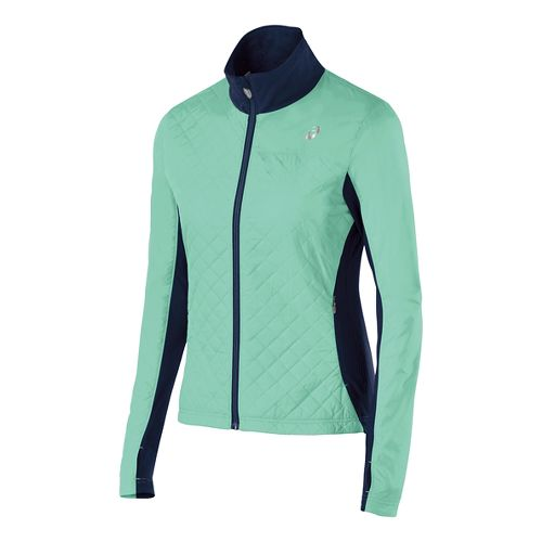 Womens ASICS Thermo Windblocker Outerwear Jackets - Aqua Mint/Indigo S