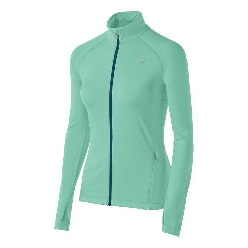 Womens ASICS Thermopolis Full Zip Lightweight Jackets - Aqua Mint XS