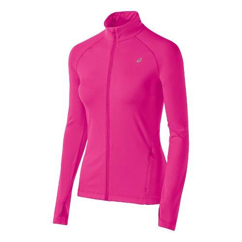 Womens ASICS Thermopolis Full Zip Lightweight Jackets - Pink Glow M