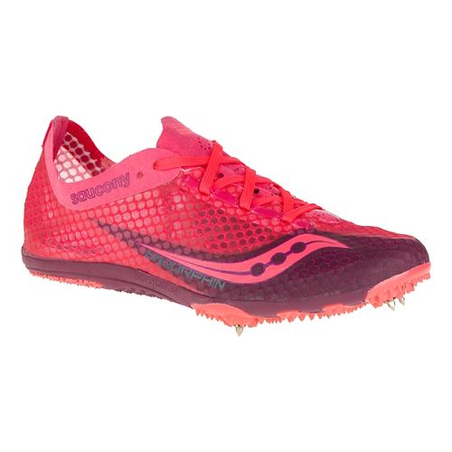 Womens Saucony Endorphin Track and Field Shoe - Berry 7.5