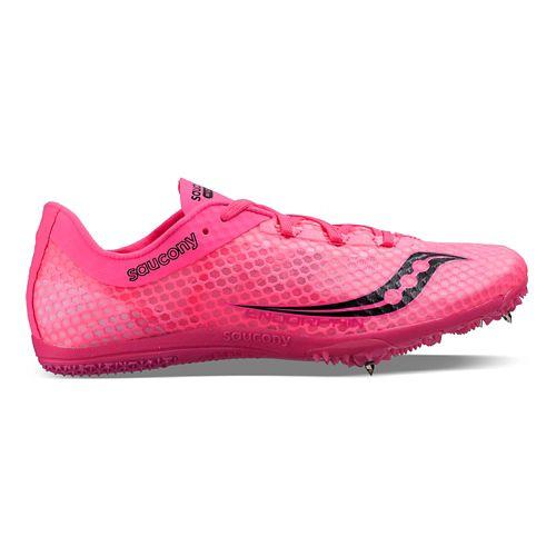 Womens Saucony Endorphin Track and Field Shoe - Orange/Black 7