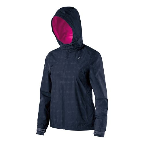 Womens ASICS Storm Shelter Warm Up Unhooded Jackets - Dark Cobalt XL