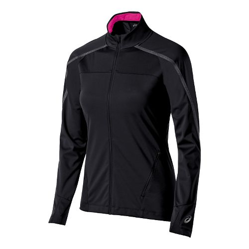 Womens ASICS Lite-Show Winter Lightweight Jackets - Performance Black M