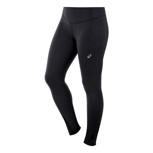 Womens ASICS Lite-Show Winter Long Sleeve Half Zip Tights - Performance Black XL