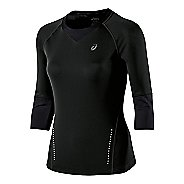 Womens ASICS 3/4 Sleeve Top Long Sleeve No Zip Technical Tops