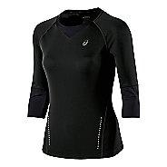 Womens ASICS 3/4 Sleeve Top Long Sleeve No Zip Technical Tops