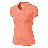 Womens ASICS Allover Graphic Short Sleeve Technical Tops