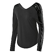 Womens ASICS Relaxed Long Sleeve No Zip Technical Tops