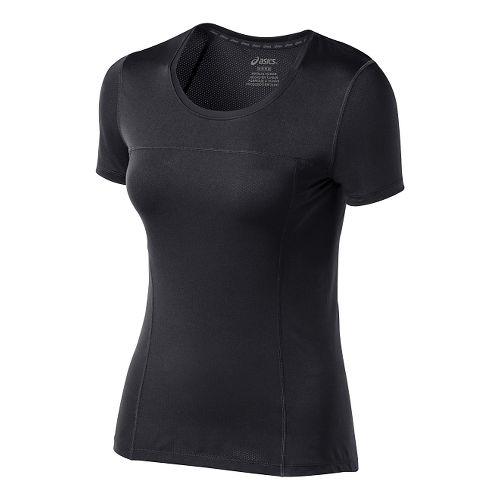 Womens ASICS PR Lyte Short Sleeve Technical Tops - Performance Black M