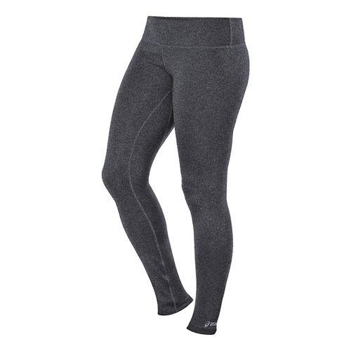 Womens ASICS PR Leggings Tights - Grey Heather LT