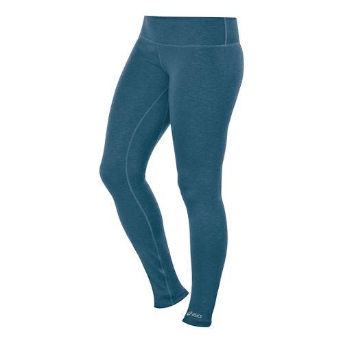 Womens ASICS PR Full Length Tights - Mosaic Blue Heather XL-R