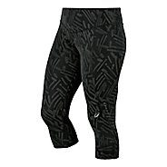 Womens ASICS Graphic Knee Capri Tights