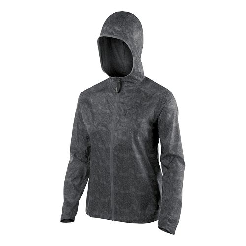 Womens ASICS Fuji trail Packable Lightweight Jackets - Dark Grey Map S