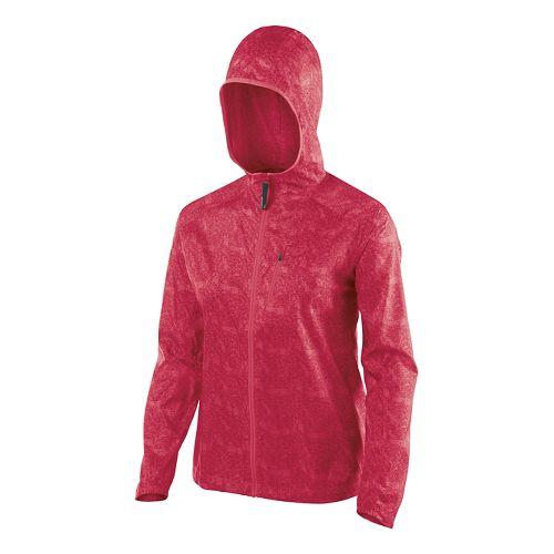 Womens ASICS Fuji trail Packable Lightweight Jackets - Wild Raspberry Map XL