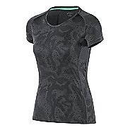 Womens ASICS Fuji trail Graphic Short Sleeve Technical Tops