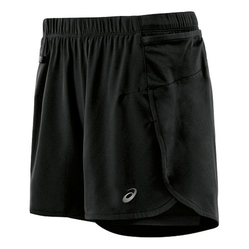 Womens ASICS Fuji trail 2 in 1 Shorts - Balance Black XS