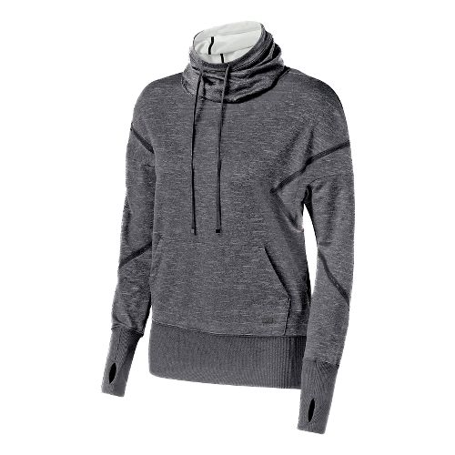 Womens ASICS Fit-Sana Long Sleeve Hooded Technical Tops - Performance Black L