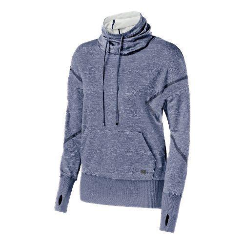 Womens ASICS Fit-Sana Long Sleeve Hooded Technical Tops - Indigo Blue XL