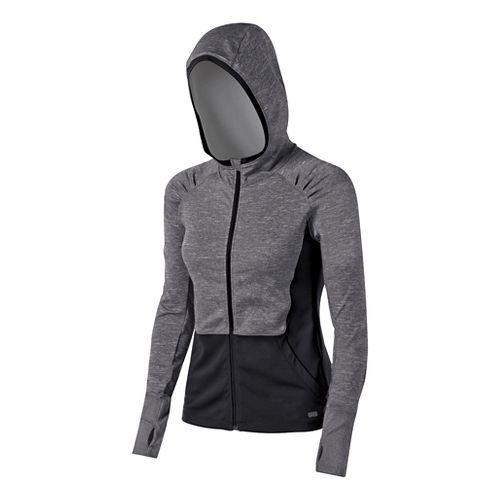 Womens ASICS Fit-Sana Zip Warm Up Hooded Jackets - Performance Black XL