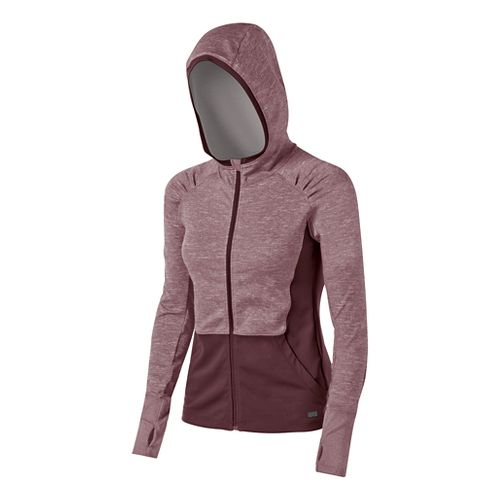 Womens ASICS Fit-Sana Zip Warm Up Hooded Jackets - Port Royale S