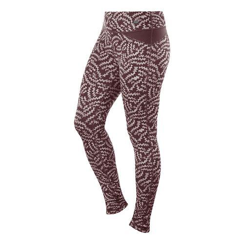Womens ASICS Fit-Sana Reversible Full Length Tights - Port Royale Print M