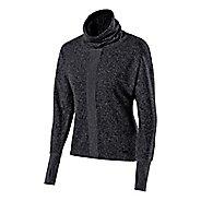 Womens ASICS Mock Neck Pullover Long Sleeve No Zip Technical Tops