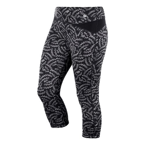 Womens ASICS Fit-Sana Reversible Capri Tights - Black Print S