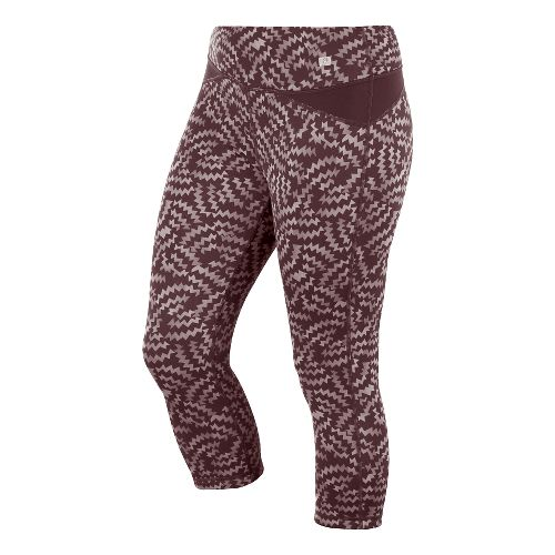 Womens ASICS Fit-Sana Reversible Capri Tights - Port Royale Print M