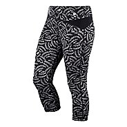 Womens ASICS Fit-Sana Reversible Capri Tights