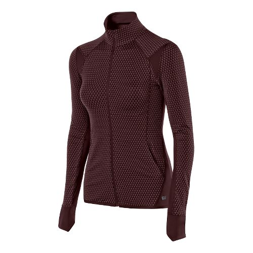 Womens ASICS Fit-Sana Jacquard Full Zip Lightweight Jackets - Port Royale M