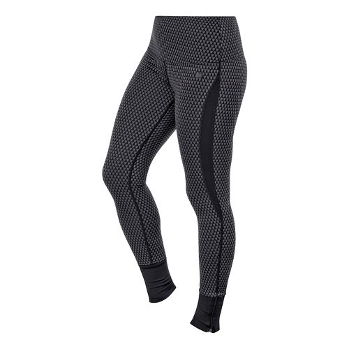 Womens ASICS Fit-Sana Jacquard Full Length Tights - Performance Black XL