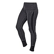 Womens ASICS Fit-Sana Jacquard Full Length Tights