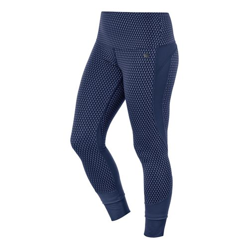 Womens ASICS Fit-Sana Jacquard Capri Tights - Indigo Blue XS