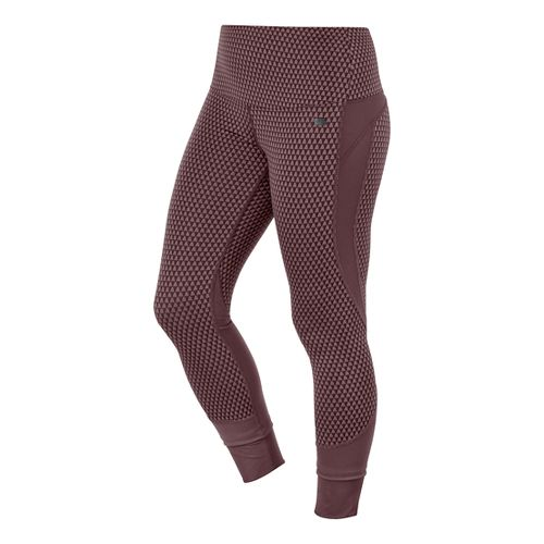 Womens ASICS Fit-Sana Jacquard Capri Tights - Port Royale XS