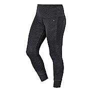 Womens ASICS Fit-Sana Jacquard Capri Tights