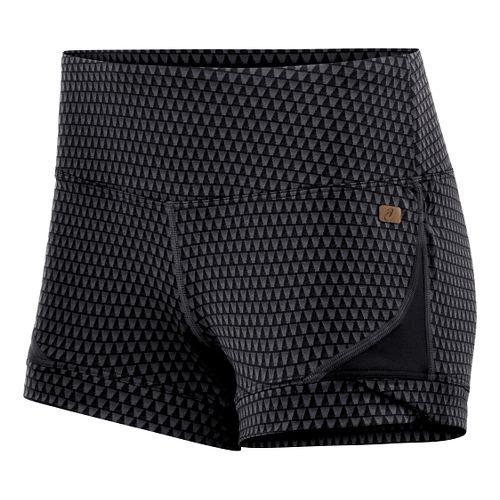 Womens ASICS Fit-Sana Jacquard Hot Pant Unlined Shorts - Performance Black M