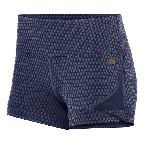 Womens ASICS Fit-Sana Jacquard Hot Pant Unlined Shorts - Indigo Blue S