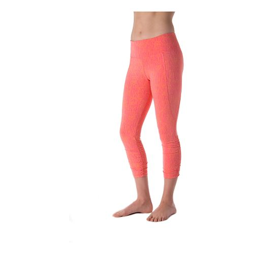 Womens Tasc Performance Utopia Crop Tights & Leggings - Conch Iris XS
