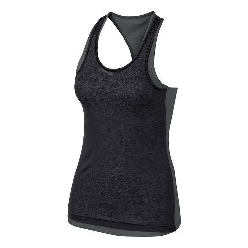 Womens ASICS Fit-Sana Reversible Tank Technical Tops - Dark Grey/Black L