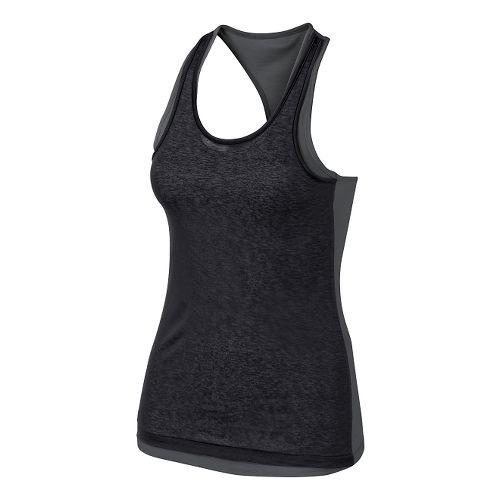 Womens ASICS Fit-Sana Reversible Tank Technical Tops - Dark Grey/Black XS