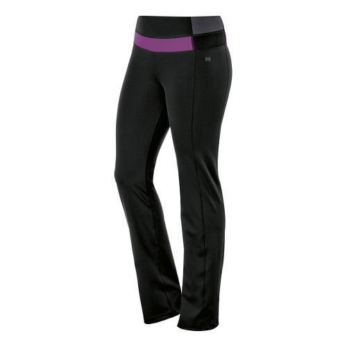Womens ASICS Fit-Sana Slim Full Length Pants - Black/Byzantium XL
