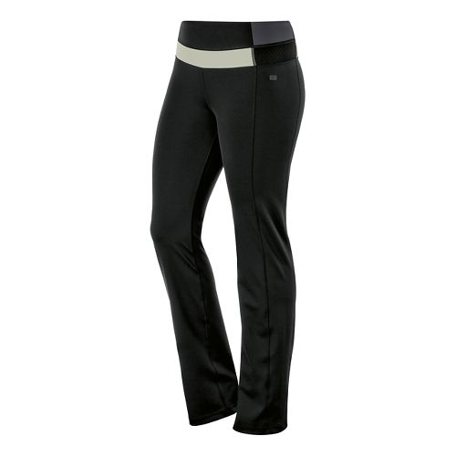 Womens ASICS Fit-Sana Slim Full Length Pants - Black/Urban Grey XS