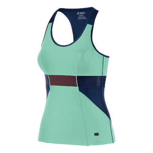 Womens ASICS Fit-Sana Slim Tank Technical Tops - Aqua Mint L