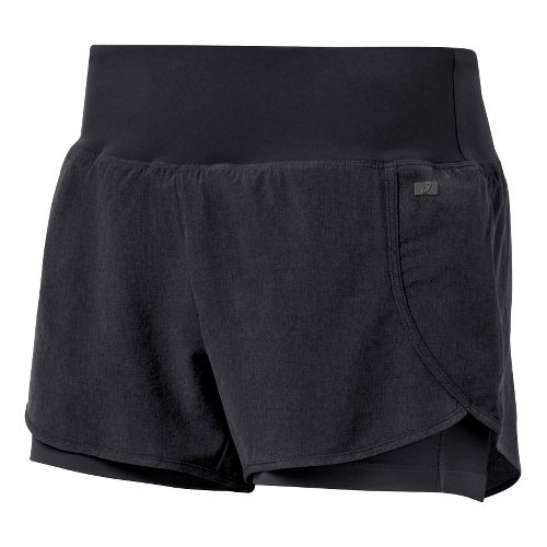 Womens ASICS Fit-Sana 2 in 1 Shorts - Performance Black L