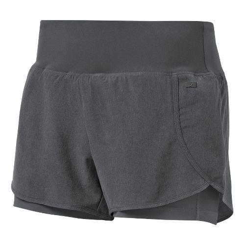 Womens ASICS Fit-Sana 2 in 1 Shorts - Dark Grey XL