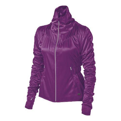 Womens ASICS Fit-Sana Ruched Warm Up Unhooded Jackets - Byzantium L