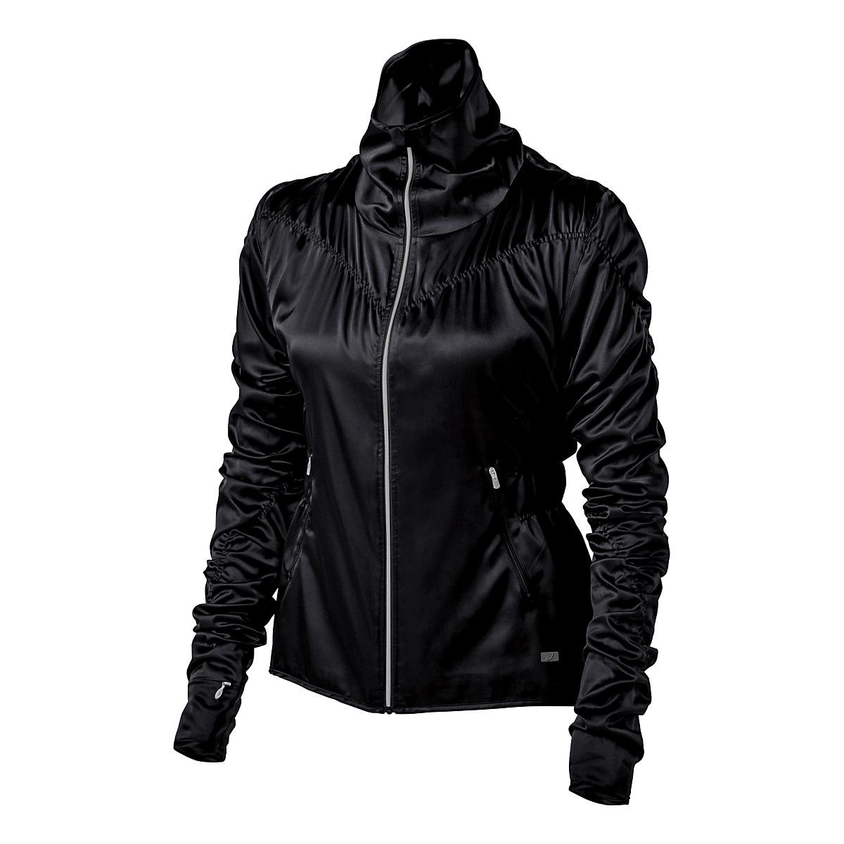 Womens Asics Fit Sana Ruched Warm Up Unhooded Jackets At