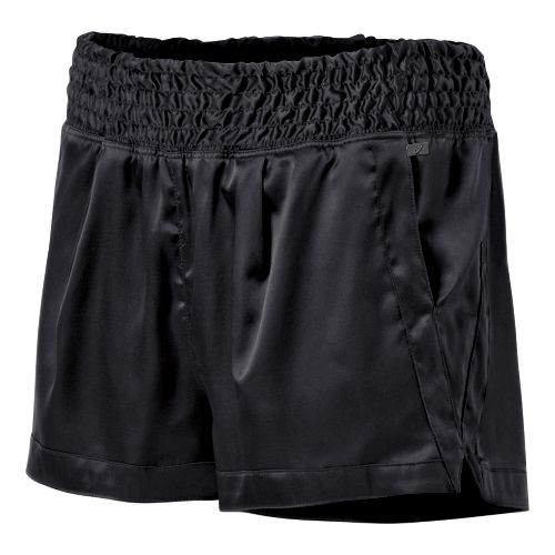 Womens ASICS Fit-Sana Ruched Unlined Shorts - Performance Black S
